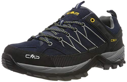 CMP Herren Rigel Low Shoes Wp Trekking- & Wanderhalbschuhe, Blau (B.Blue-Graffite 10nd), 43 EU