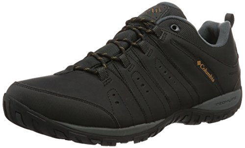Columbia Herren Woodburn II Waterproof Wasserdichte Schuhe, Black, 48 EU