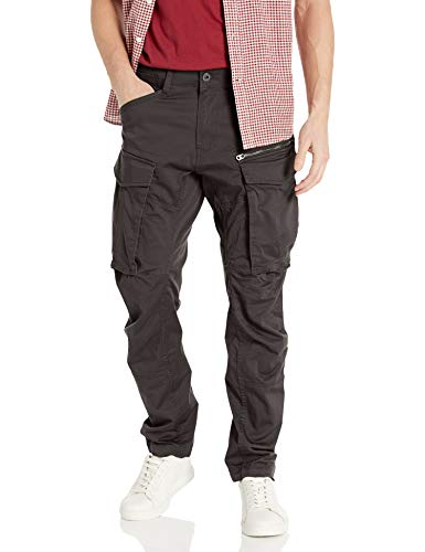 G-STAR RAW Herren Rovic Zip 3d Straight Tapered Hose, Schwarz (raven 5126-976), W30 / 32L