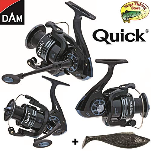 Dam Quick Fighter Pro Metal Spinrolle - Spin Rolle/Angelrolle - 2000 bis 6000 (3000er / 330 FD - 128m  0,30mm)