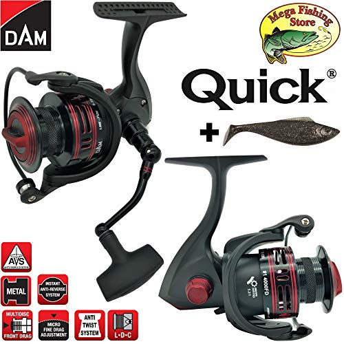 DAM Quick #1 4000 FD 7BB Spinrolle - Angelrolle/Stationärrolle - Spin Rolle/Spinnrolle + Glücksbringer